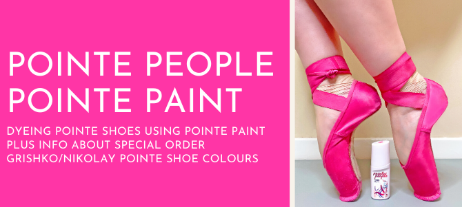 PointePeople Pointe Paint (Pointe Shoe Dye) Tutorial Video